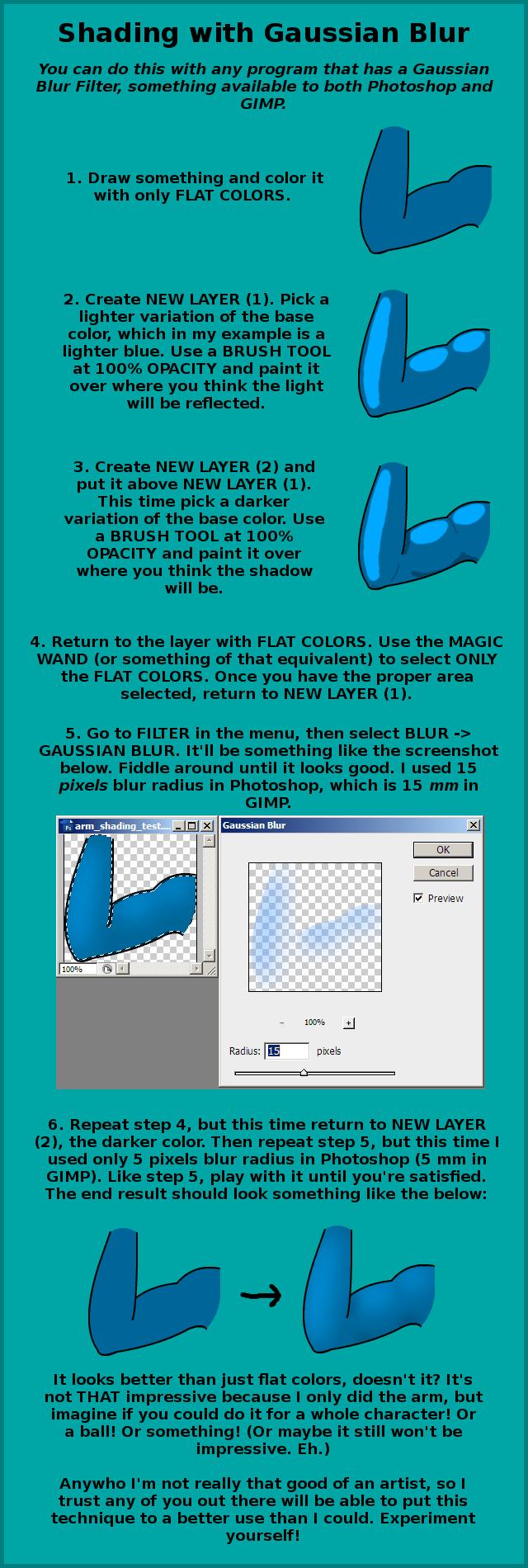 Gaussian Blur Coloring/Shading Tutorial by Aquablast-Fon on DeviantArt