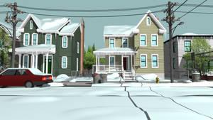 Snowy Neighborhood