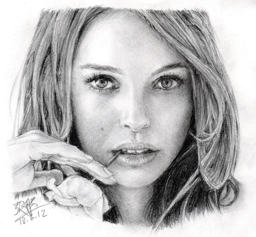 Pencil portrait of Natalie Portman by chaseroflight on ...