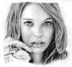 Pencil portrait of Natalie Portman