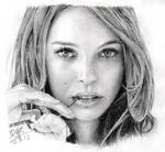 Pencil portrait of Natalie Portman