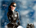 iPad finger painting - Catwoman