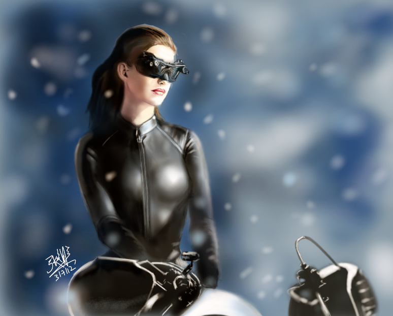 iPad finger painting - Catwoman by chaseroflight