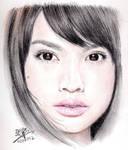 Repost: Color pencil portrait of Rainie Yang
