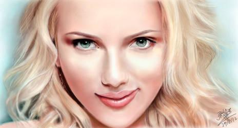 iPad FINGER painting: Scarlett Johansson by chaseroflight