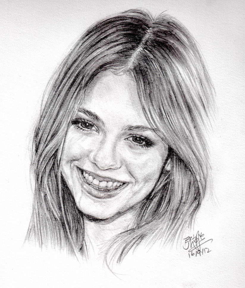 Pencil portrait of actress by chaseroflight on DeviantArt