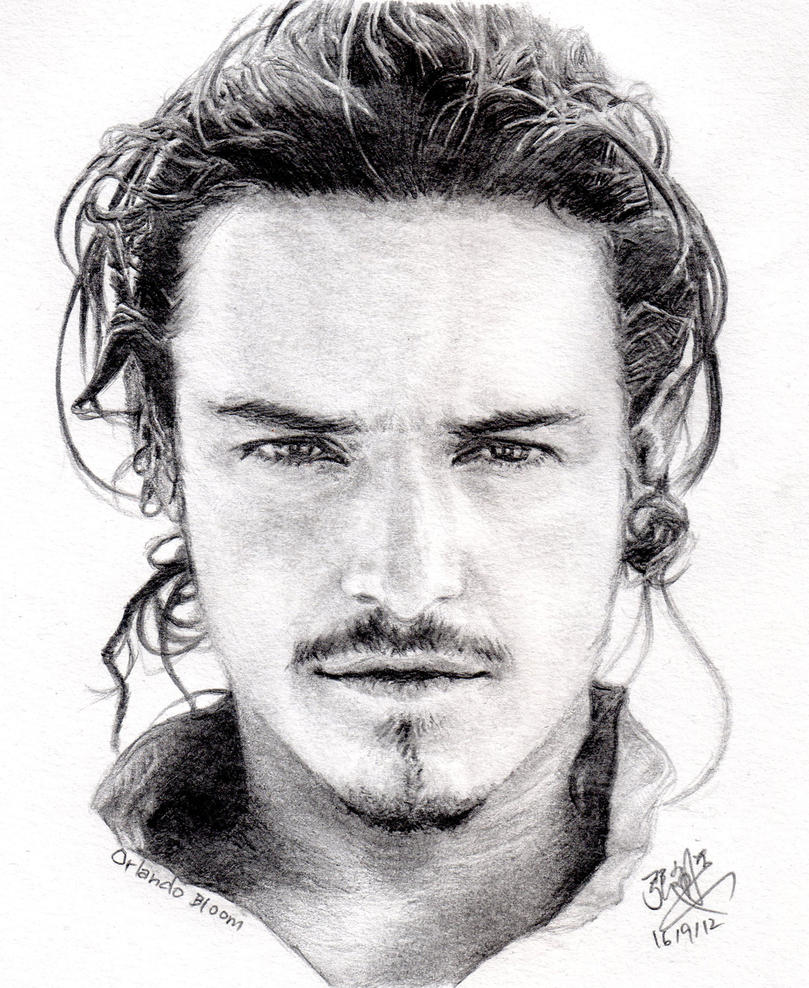 Pencil portrait of Orlando Bloom by chaseroflight on ...