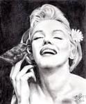 Pencil portrait of Marilyn Monroe