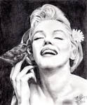 Pencil portrait of Marilyn Monroe