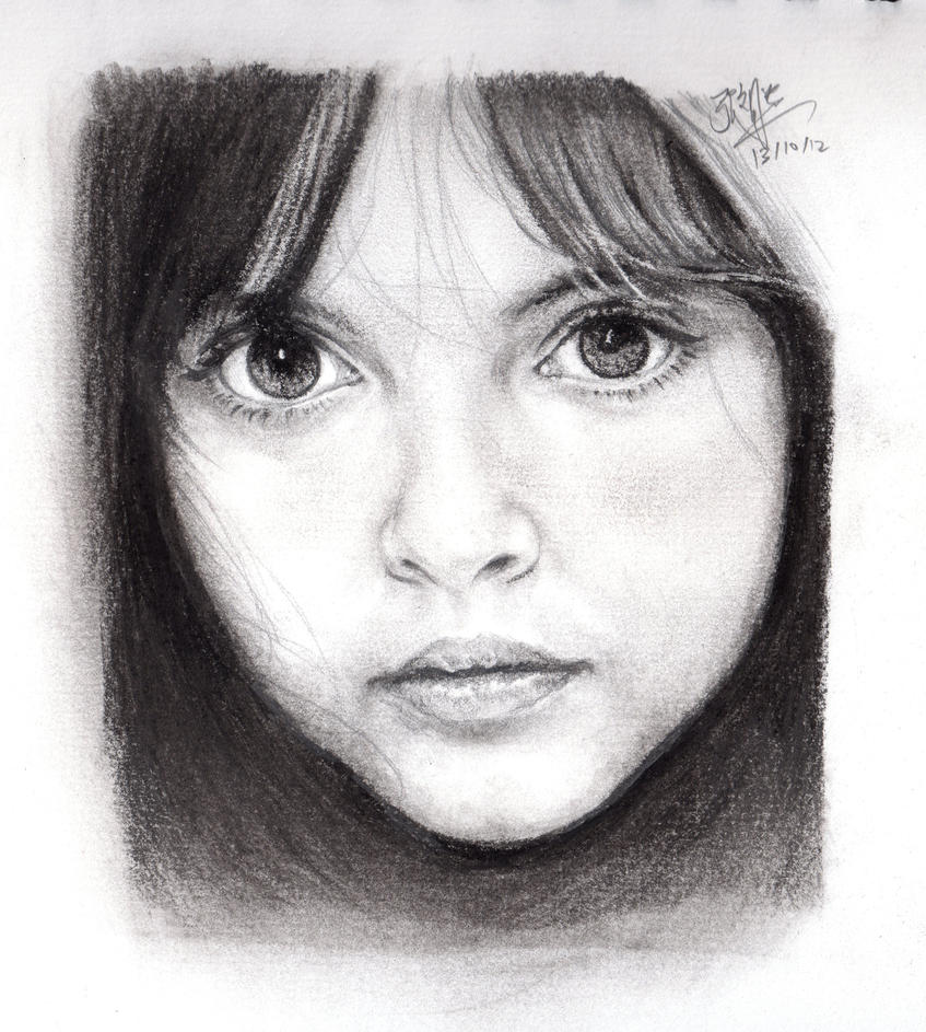 Pencil portrait of a beautiful girl by chaseroflight on Free sketching online