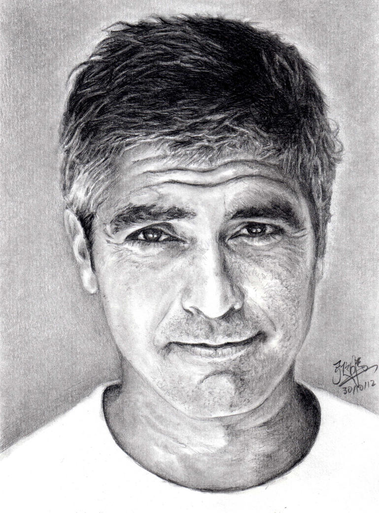Pencil Portrait of George Clooney by chaseroflight