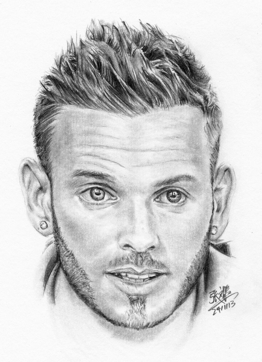Pencil portrait of Matt Pokora by chaseroflight on DeviantArt