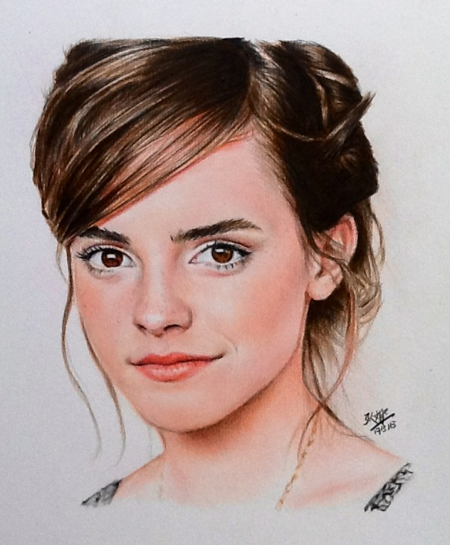 Color Portrait Drawings Color Pencil Portrait of Emma