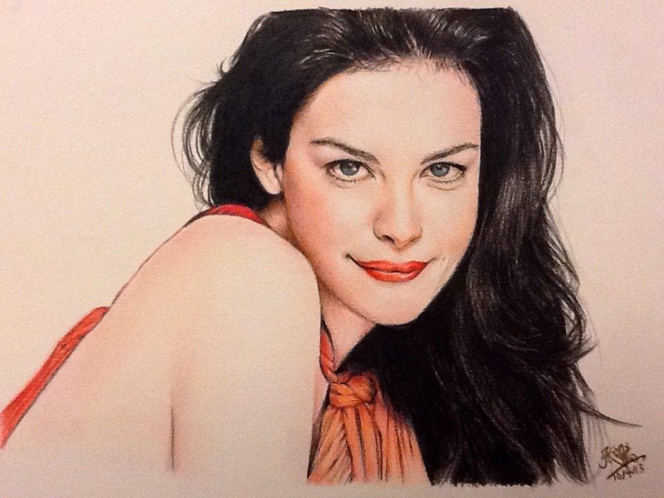 color pencil portrait of liv tyler by chaseroflight on deviantart