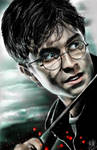 iPad finger painting of Harry Potter (with color)