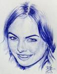 Quick pen sketch of Camilla Belle