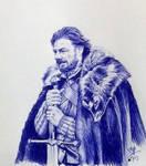 Quick pen sketch of Eddard Stark (Game of thrones)