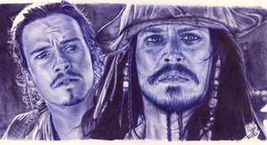 Ballpoint pen drawing: Pirates of the Caribbean