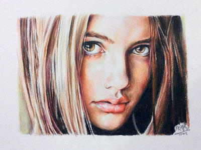 Color pencil portrait by chaseroflight