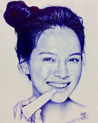 Ballpoint pen drawing of Song Ji-Hyo