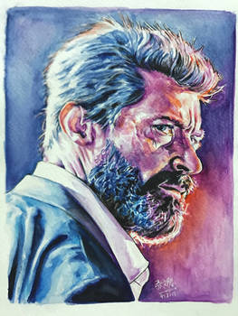 Watercolor painting of Logan