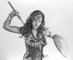 Pencil drawing of Wonderwoman