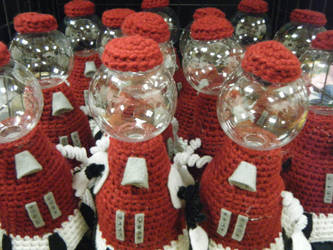 Tom Servo Plush Army by MageAkyla