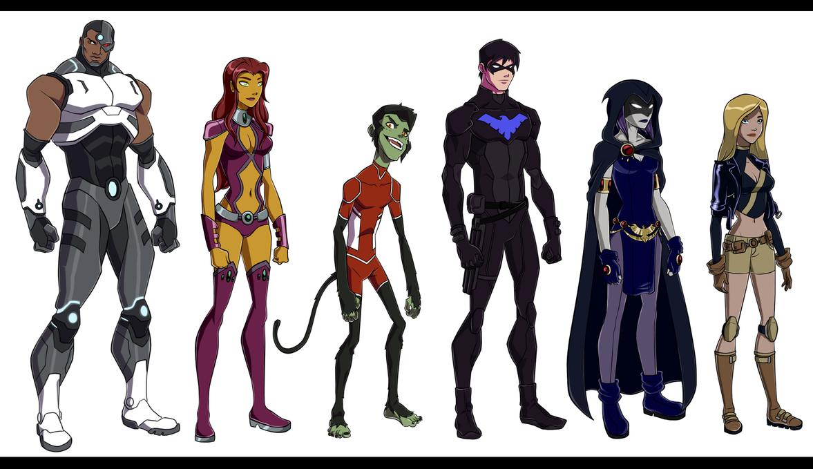 YJ: Teen Titans by Ann-Joanne