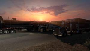 Sunset in Burns - ATS Oregon DLC by Firestarthecat1