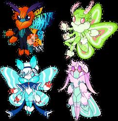 Moth anthro adoptable- OTA 1/4 OPEN by Lighterium