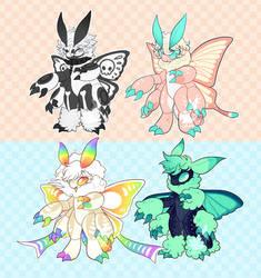 Moth friends adopt- 1/4  FLATSALE OPEN PRICE LOWER