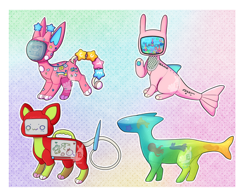 90s robot toys adoptables- hold