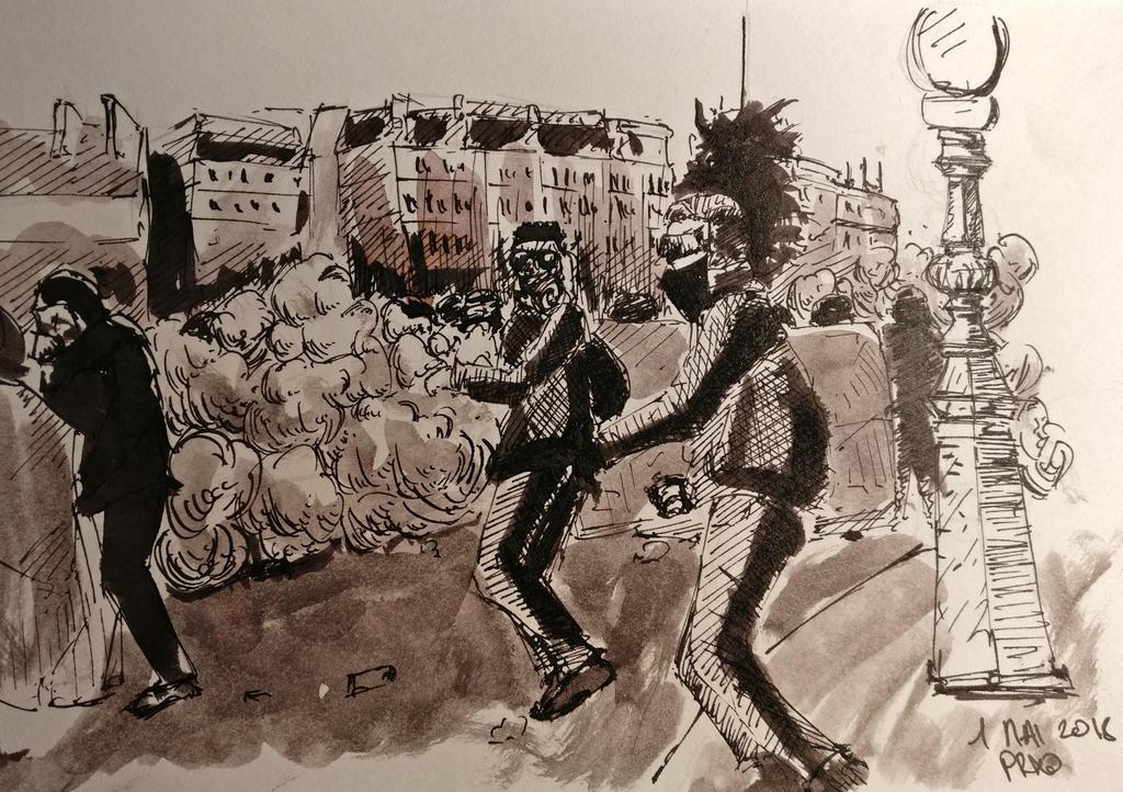 Strike about Paris by archiwyzard