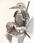 Inktober 8, King Fisher samurai