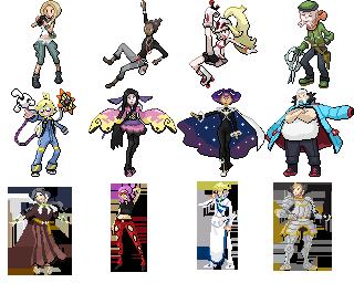 Pokemon Prism: Elite Four and Champion by Megaman-Omega on