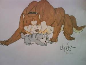 Riki and puppy Gin