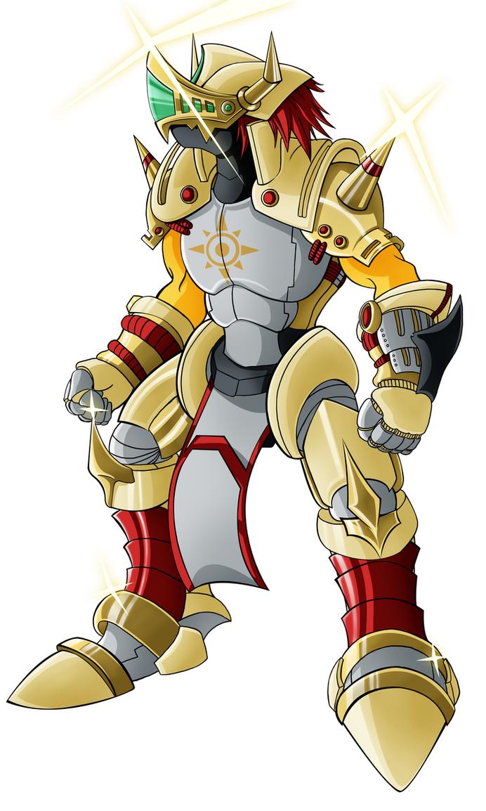 Gancelot Greymon (color) by HellGab
