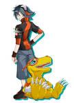 Taiga and Agumon XrossWars Hunters Style