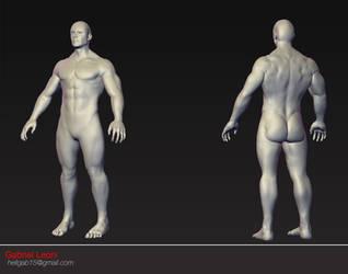 Male 3D Model by HellGab