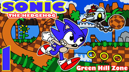 Sonic the Hedgehog - Green Hill Zone by diuky