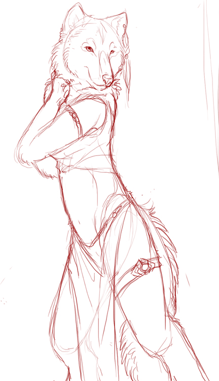Anthro Wolf Tutorial Anthro Wolf Sketch by Kium