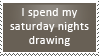 Drawing saturday nights stamp by Kium