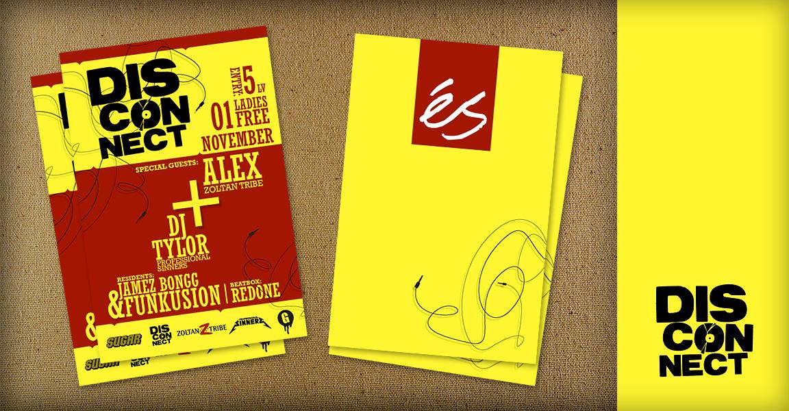 Disconnect logo flyer by punkt11 on deviantart for Flyer inspiration
