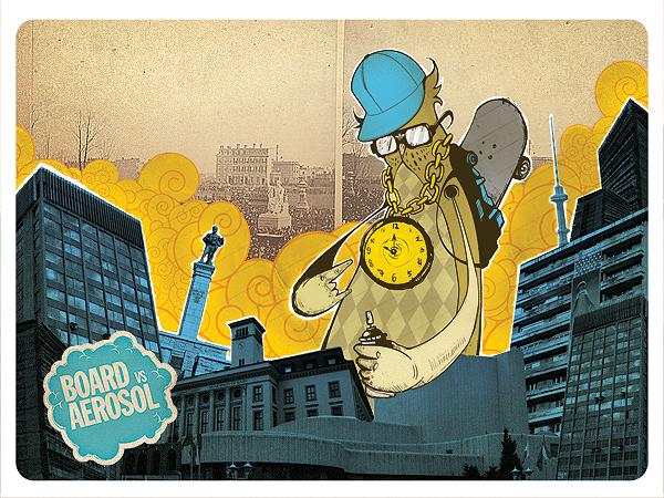 Board vs Aerosol illustration by punkt11