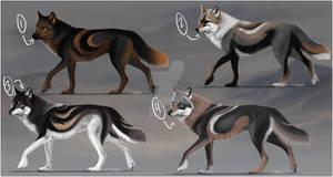 [2/4 OPEN] Semi-Realistic Wolf Design Adopts