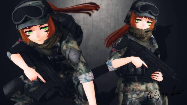 [MMD] Erika ''Jaeger'' Armbruster