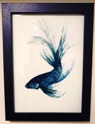 Watercolour Siamese Fighting Fish