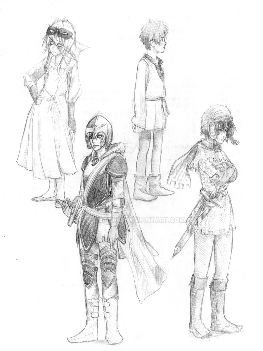 medieval concept sketches by kyuubifred