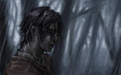fred in the rain again