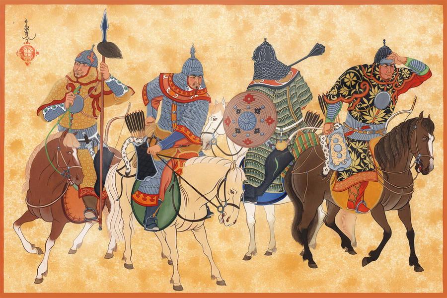 Mongol Cavalry elites by HappyMorningStar